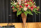 横浜市中区柏葉にあるミネ歯科さんへ受付花を配達しました。【横浜花屋の花束・スタンド花・胡蝶蘭・バルーン・アレンジメント配達事例941】