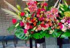 横浜市みなとみらいグランゲートへスタンド花を配達しました。【横浜花屋の花束・スタンド花・胡蝶蘭・バルーン・アレンジメント配達事例956】