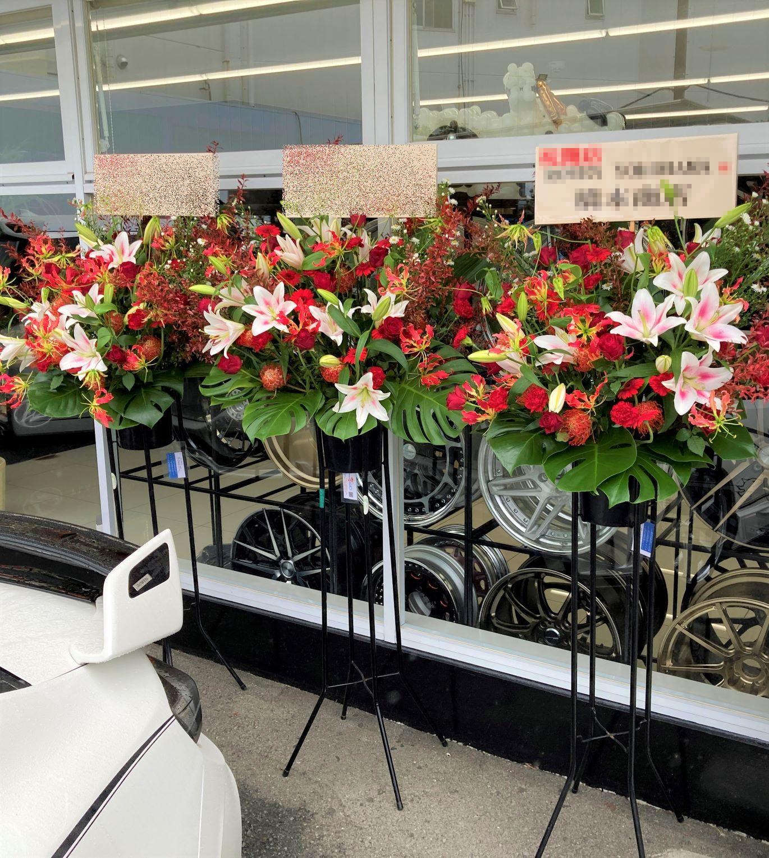 横浜市旭区へスタンド花を3基配達しました。【横浜花屋の花束・スタンド花・胡蝶蘭・バルーン・アレンジメント配達事例959】